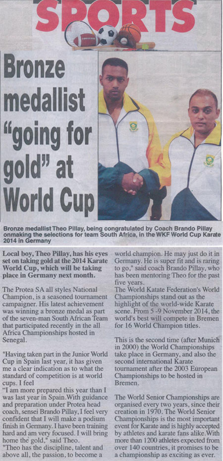 Protea Coach and Theo Pillay - Article October 2014 - 1