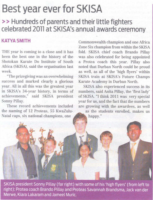 best year ever for SKISA