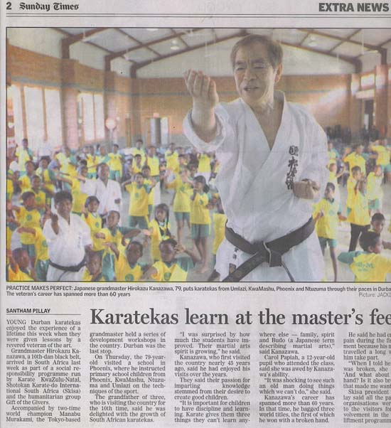 news coverage - Karatekas learn at the Masters Feet 1a