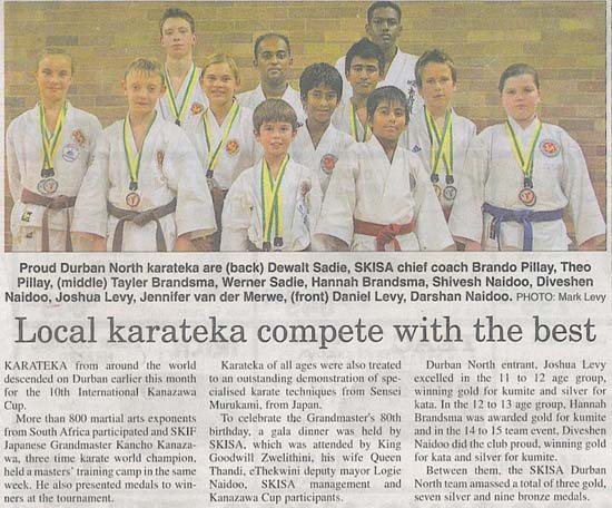 news coverage - Local karateka compete with the best 1a
