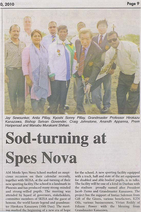 news coverage - Sod-turning at Spes Nova 1a