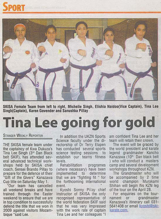 news coverage - Tina Lee Going for Gold 1a