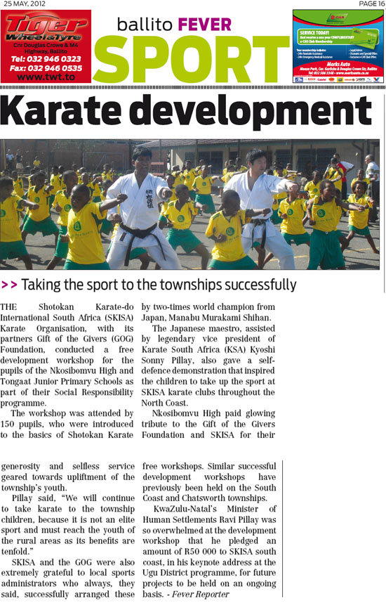 news coverage - ballito fever - May 2012